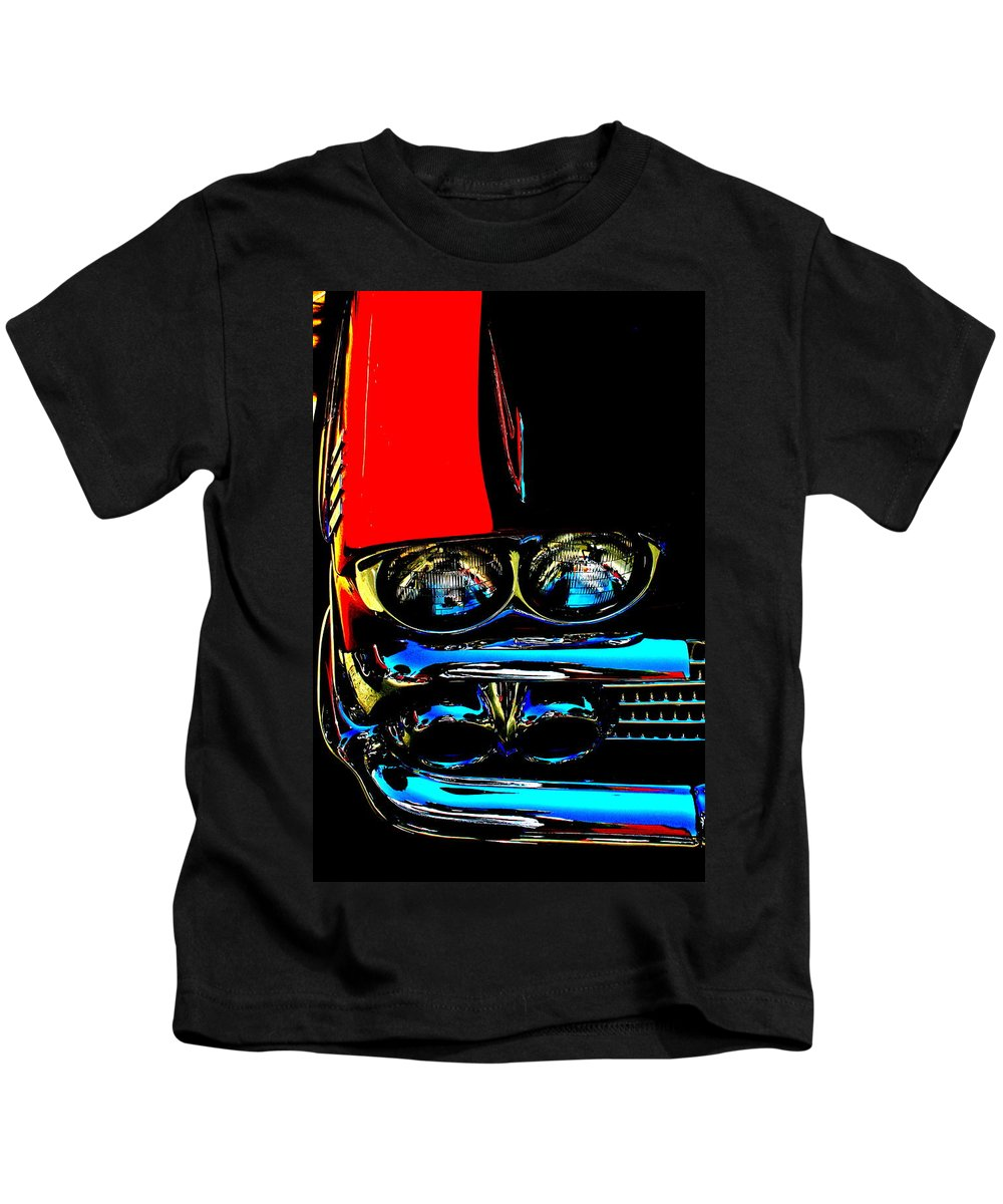 Photograph Kids T-Shirt featuring the photograph Chevy by Gwyn Newcombe