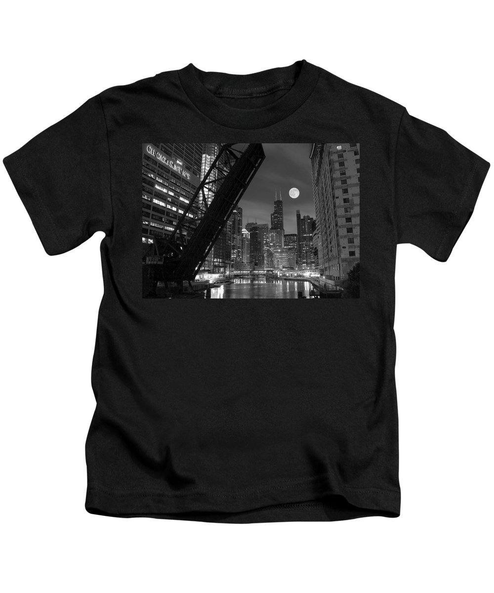 Chicago Kids T-Shirt featuring the photograph Chicago Pride Of Illinois by Frozen in Time Fine Art Photography