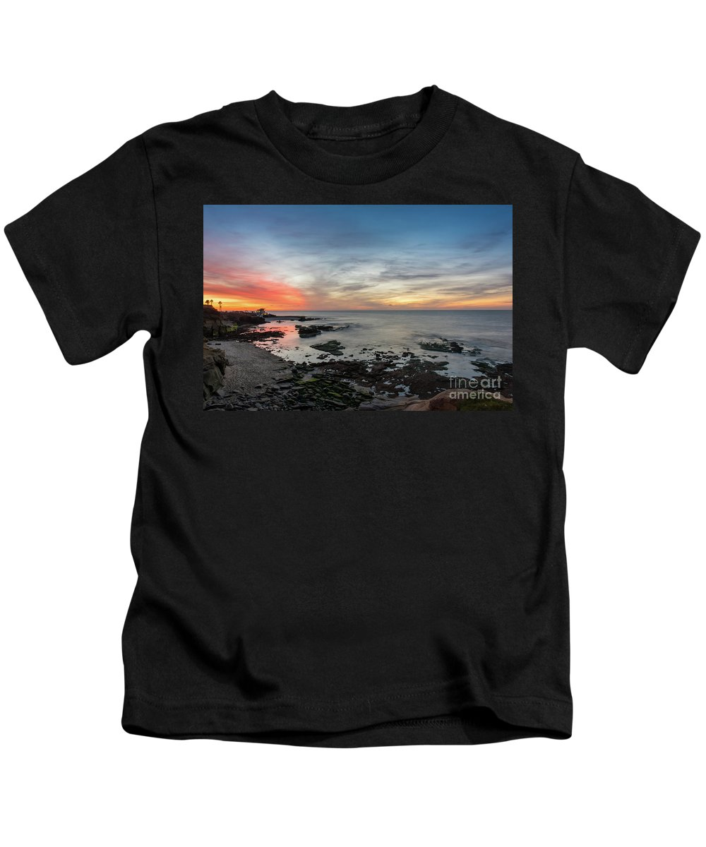 Seascape Kids T-Shirt featuring the photograph Children's Pool At La Jolla Cove by Bora Baysal