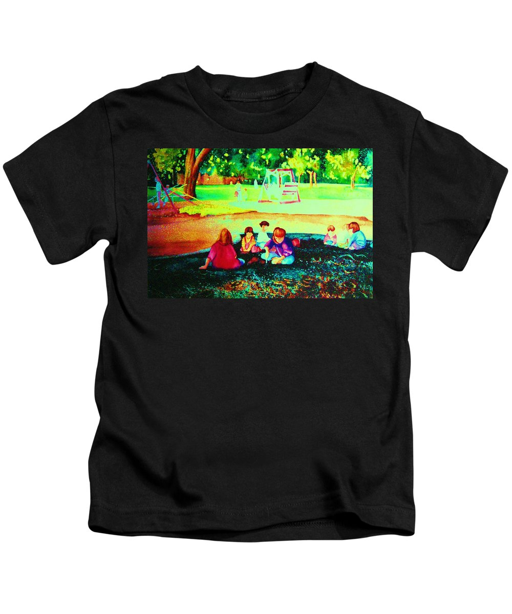 Central Park Kids T-Shirt featuring the painting Childs Play by Carole Spandau