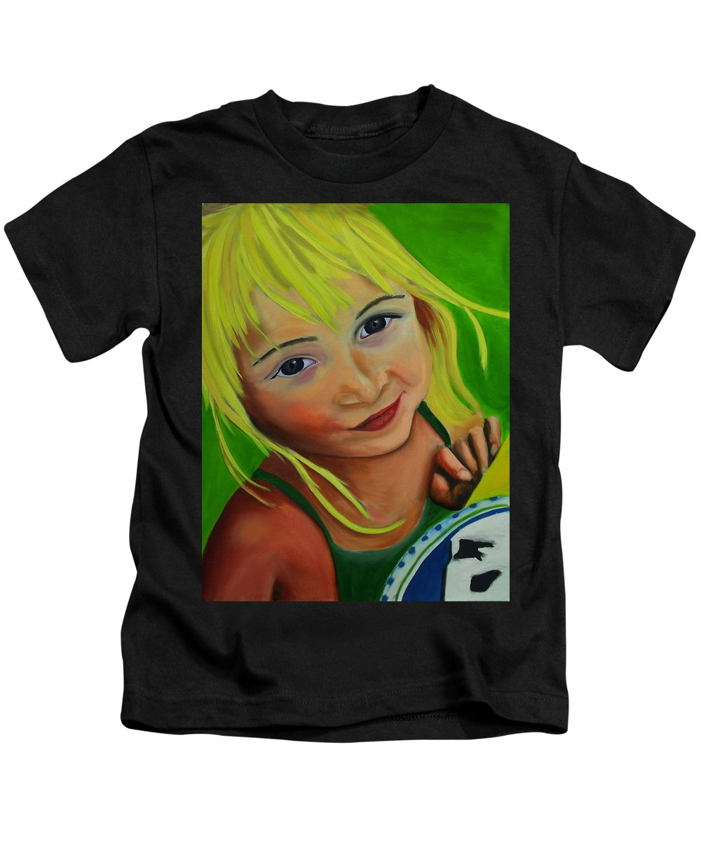Chloe Kids T-Shirt featuring the painting Chloe by Dean Glorso