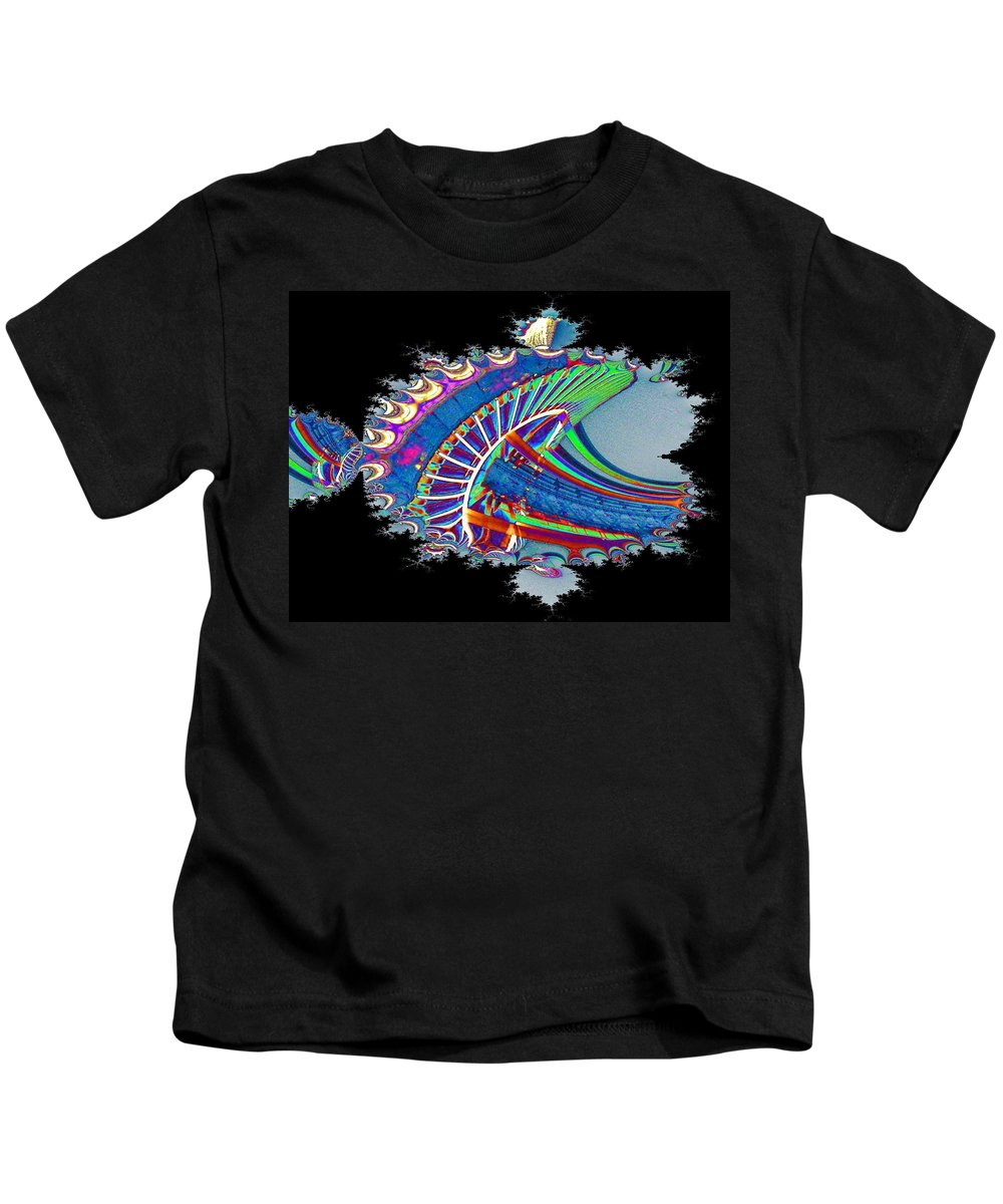 Seattle Kids T-Shirt featuring the digital art Christmas Needle In Fractal by Tim Allen