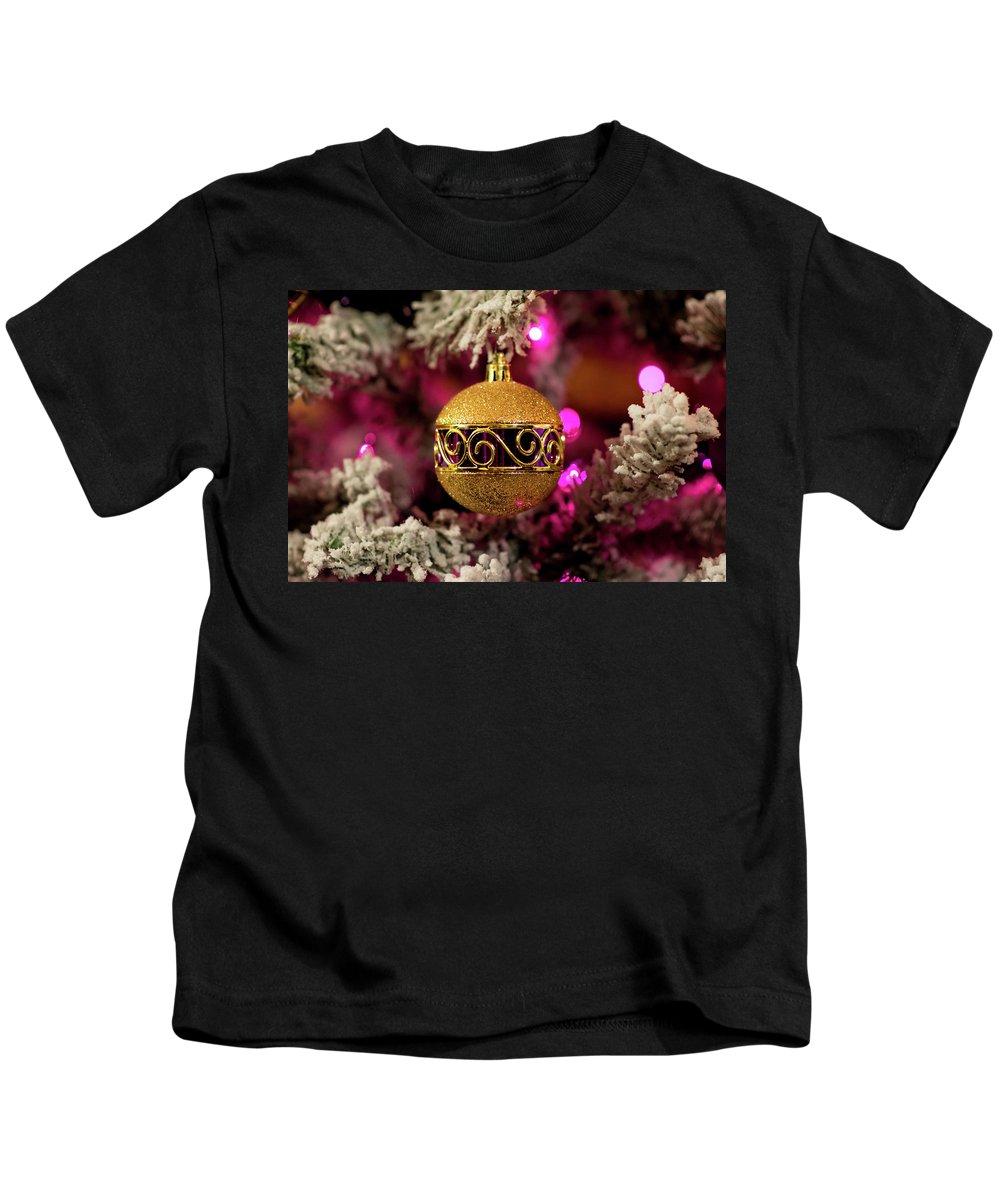 Christmas Kids T-Shirt featuring the photograph Christmas Ornament 1 by Krystal Billett