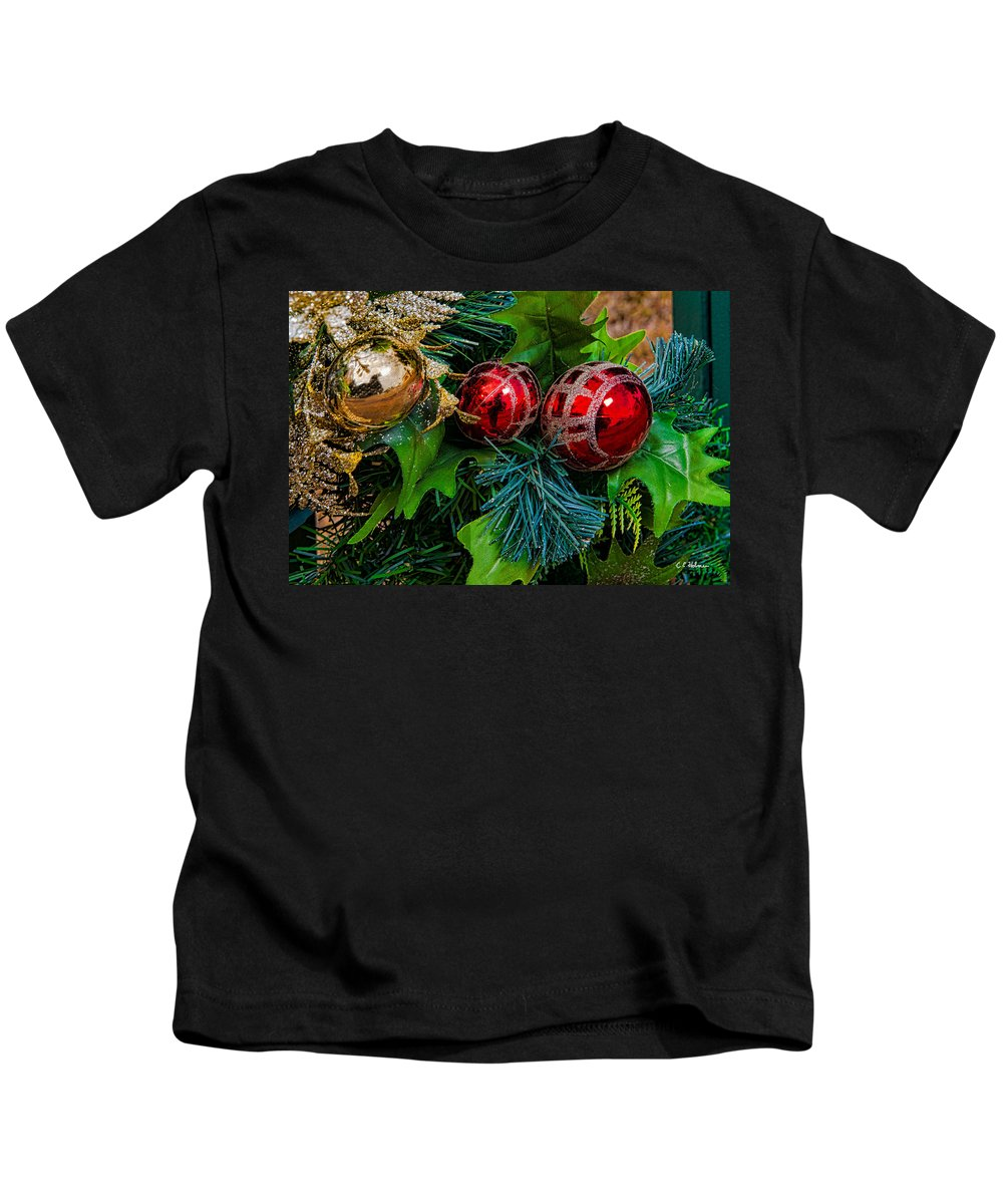 Christmas Kids T-Shirt featuring the photograph Christmas Ornaments by Christopher Holmes