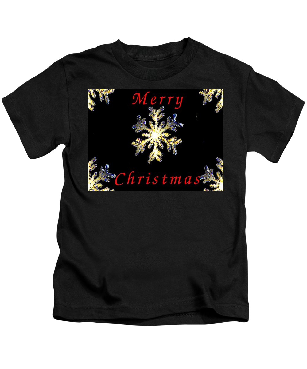 Snow Kids T-Shirt featuring the photograph Christmas Snowflakes by Tim Allen