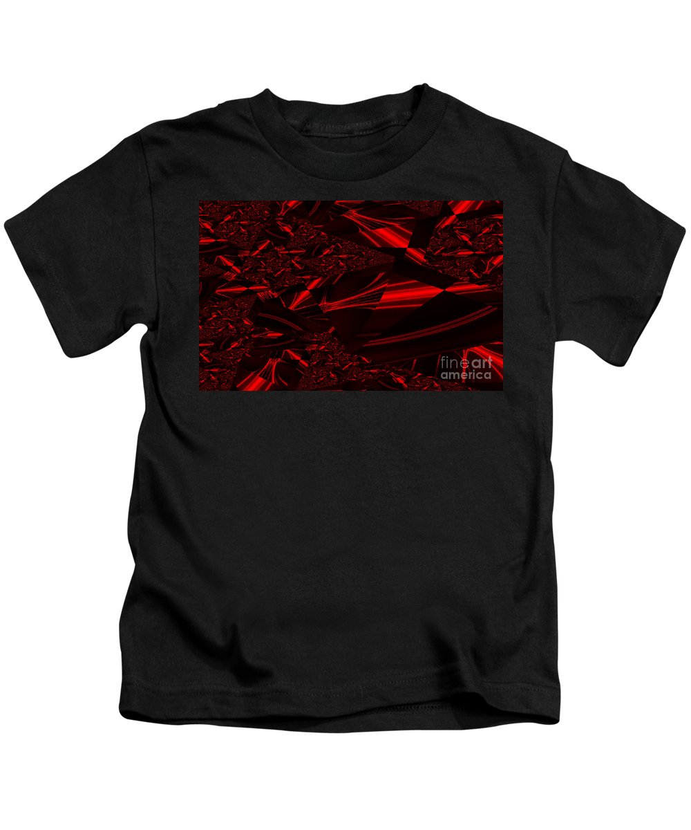 Clay Kids T-Shirt featuring the digital art Chrome In Red by Clayton Bruster