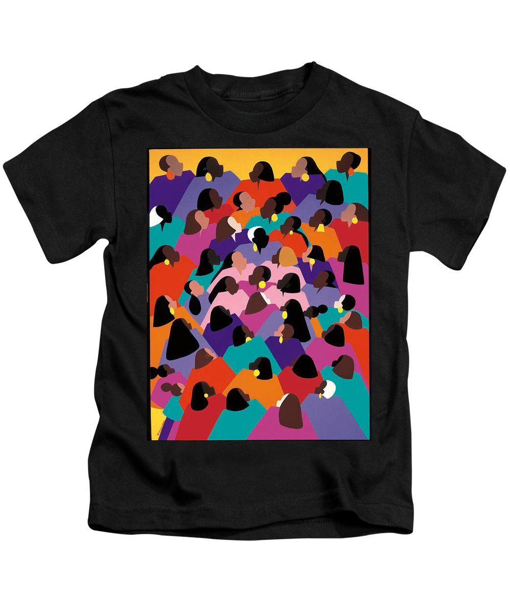 Figurative Kids T-Shirt featuring the painting Circle Of Promise by Synthia SAINT JAMES