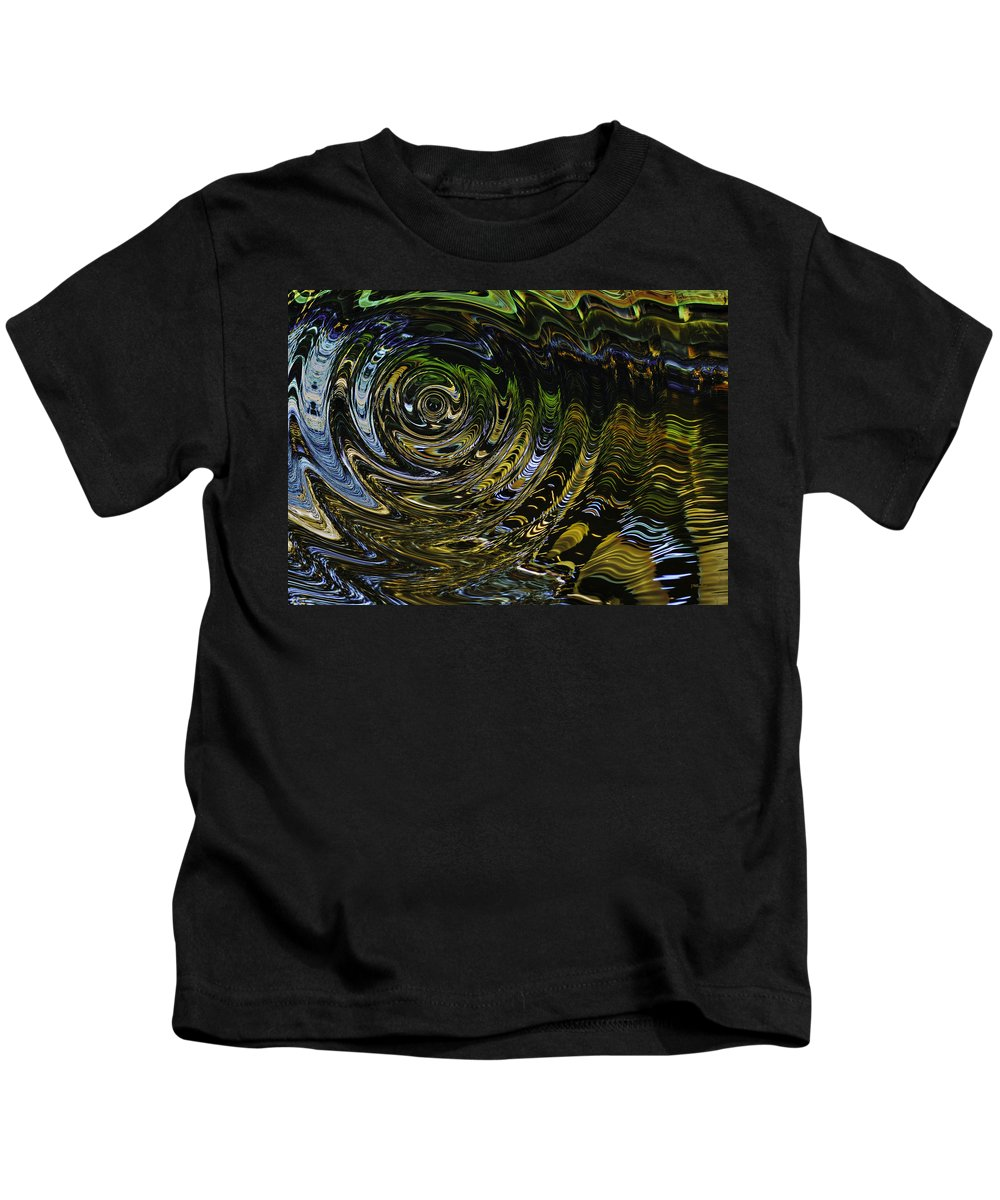 Abstract Kids T-Shirt featuring the photograph Circles And Swirls by John M Bailey