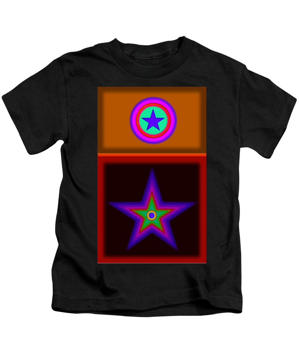 Classical Kids T-Shirt featuring the digital art Circus Star by Charles Stuart