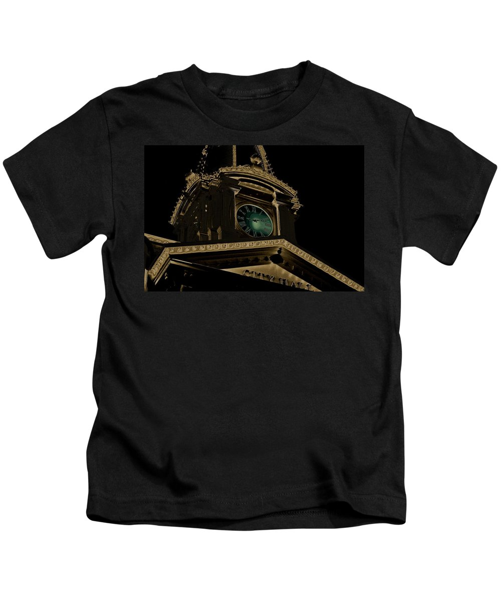 City Hall Kids T-Shirt featuring the photograph City Hall by Robert Meanor