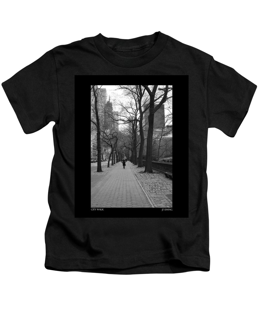 Black Kids T-Shirt featuring the photograph City Walk by J Todd