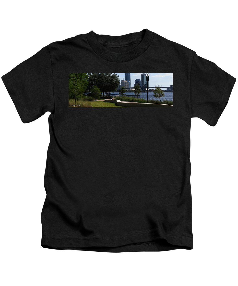 Art For The Wall...patzer Photography Kids T-Shirt featuring the photograph City Way by Greg Patzer