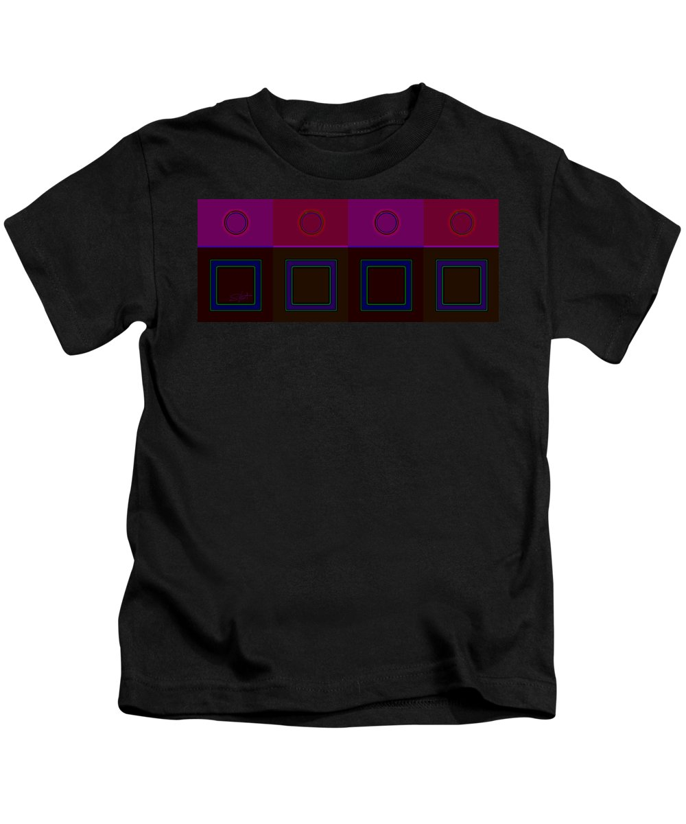 Classical Kids T-Shirt featuring the digital art Classical Four by Charles Stuart