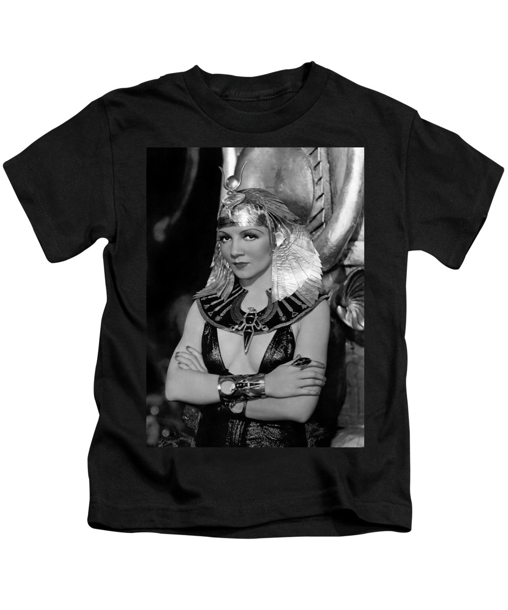 Publicity Photo Kids T-Shirt featuring the photograph Claudette Colbert In Cleopatra 1934 by Mountain Dreams