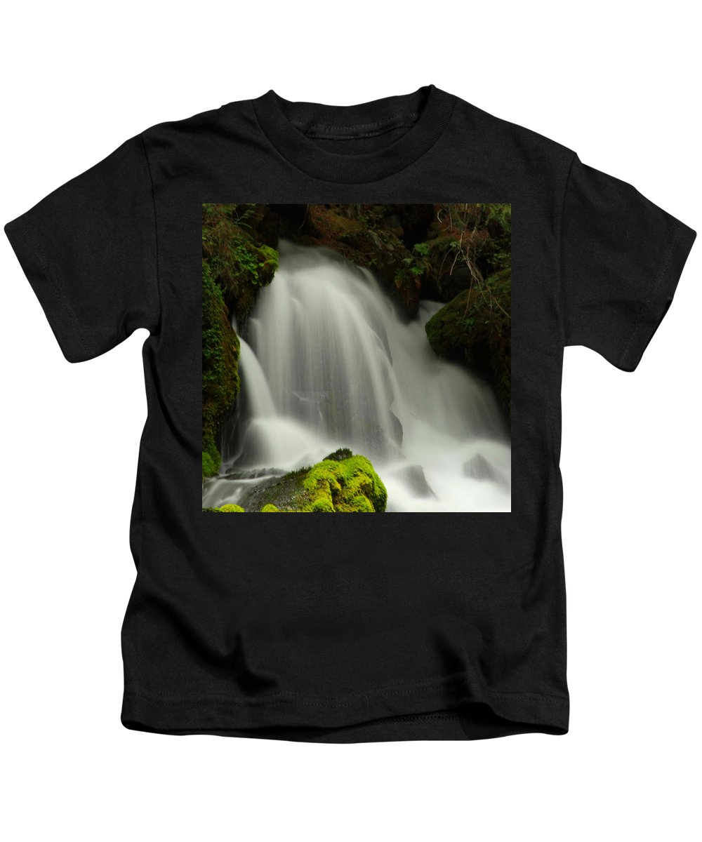 Clearwater Falls Kids T-Shirt featuring the photograph Clearwater Falls 1 by Ingrid Smith-Johnsen