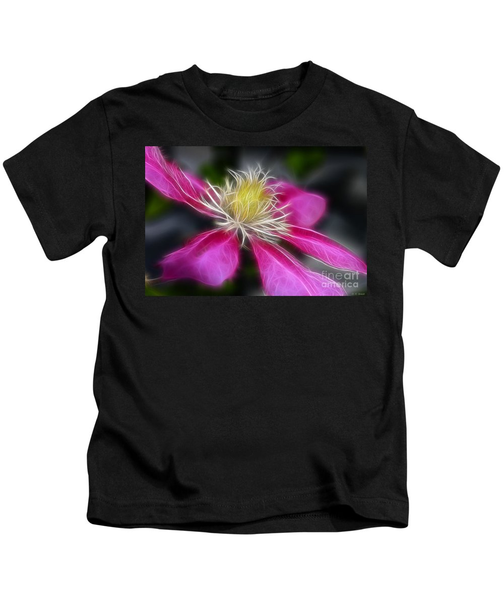 Flower Kids T-Shirt featuring the photograph Clematis In Pink by Deborah Benoit