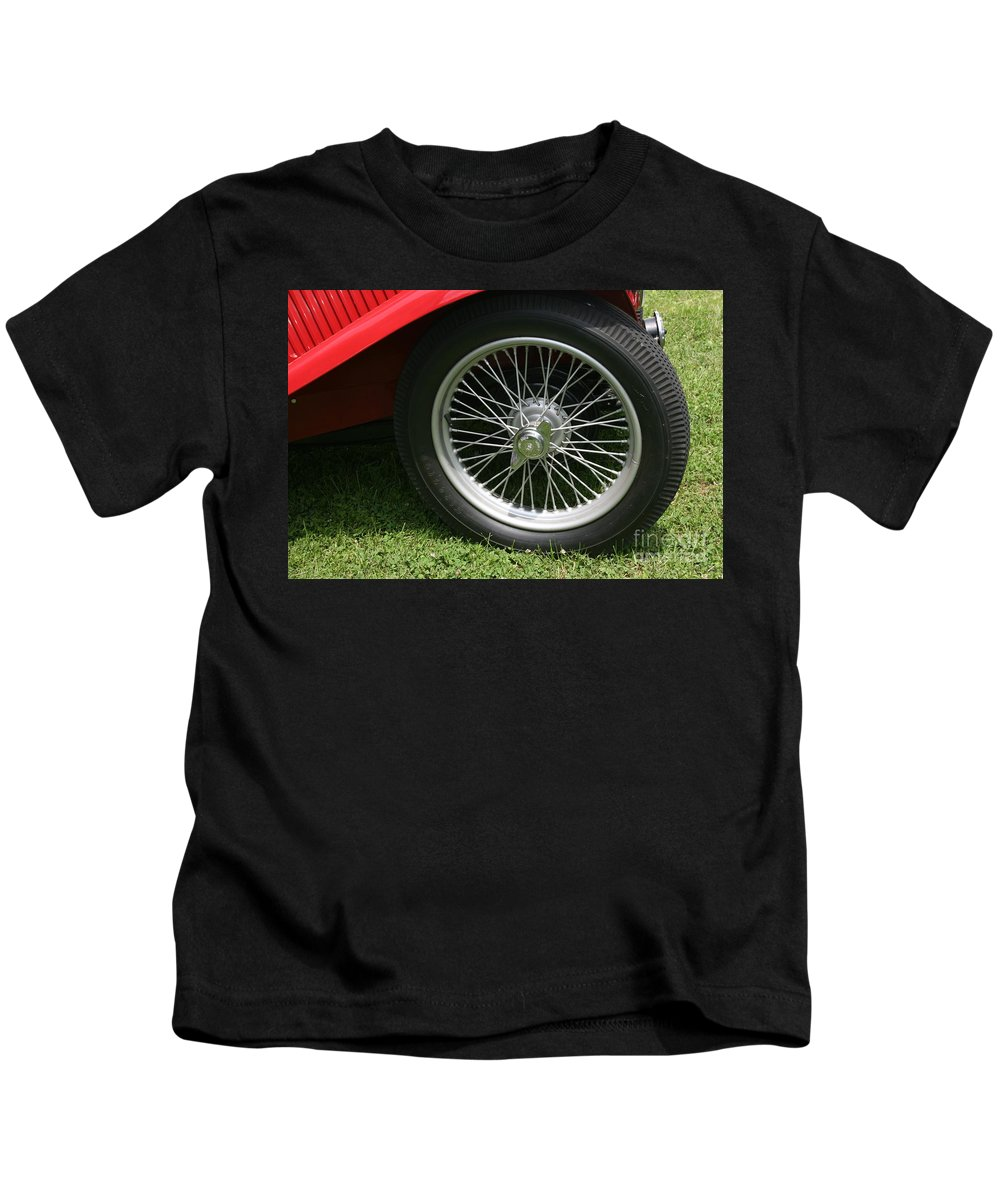 Car Kids T-Shirt featuring the photograph Close-up Of Past by Dawn Downour