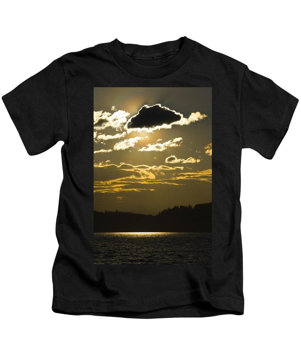 Landscape Kids T-Shirt featuring the photograph Cloud Shadows by Karen Ulvestad
