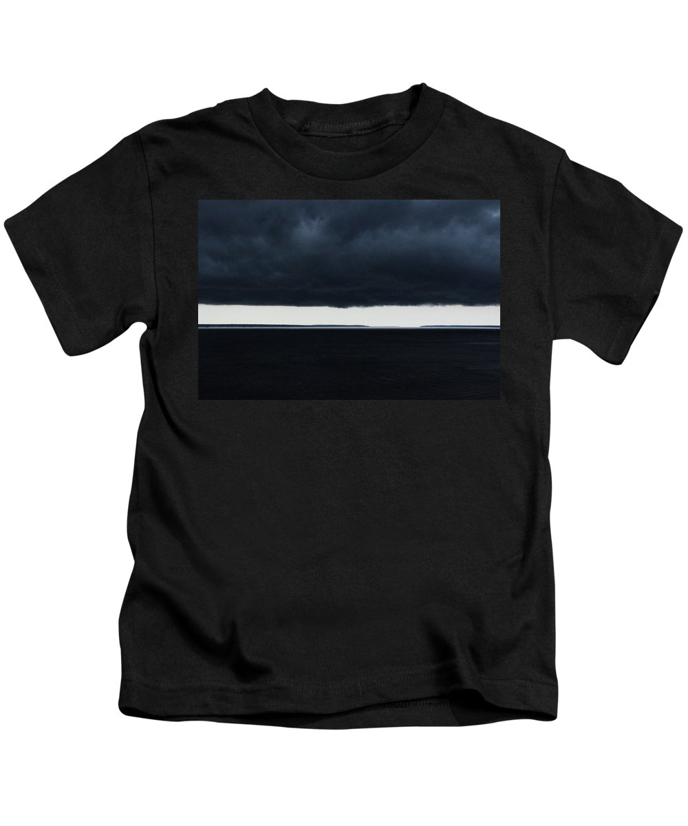 Clouds Kids T-Shirt featuring the photograph Clouds Over Black River by Helton Mendes