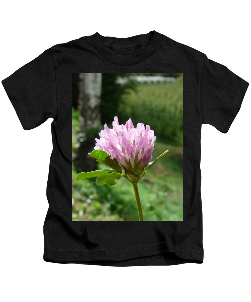 Red Kids T-Shirt featuring the photograph Clover 1 by Valerie Ornstein