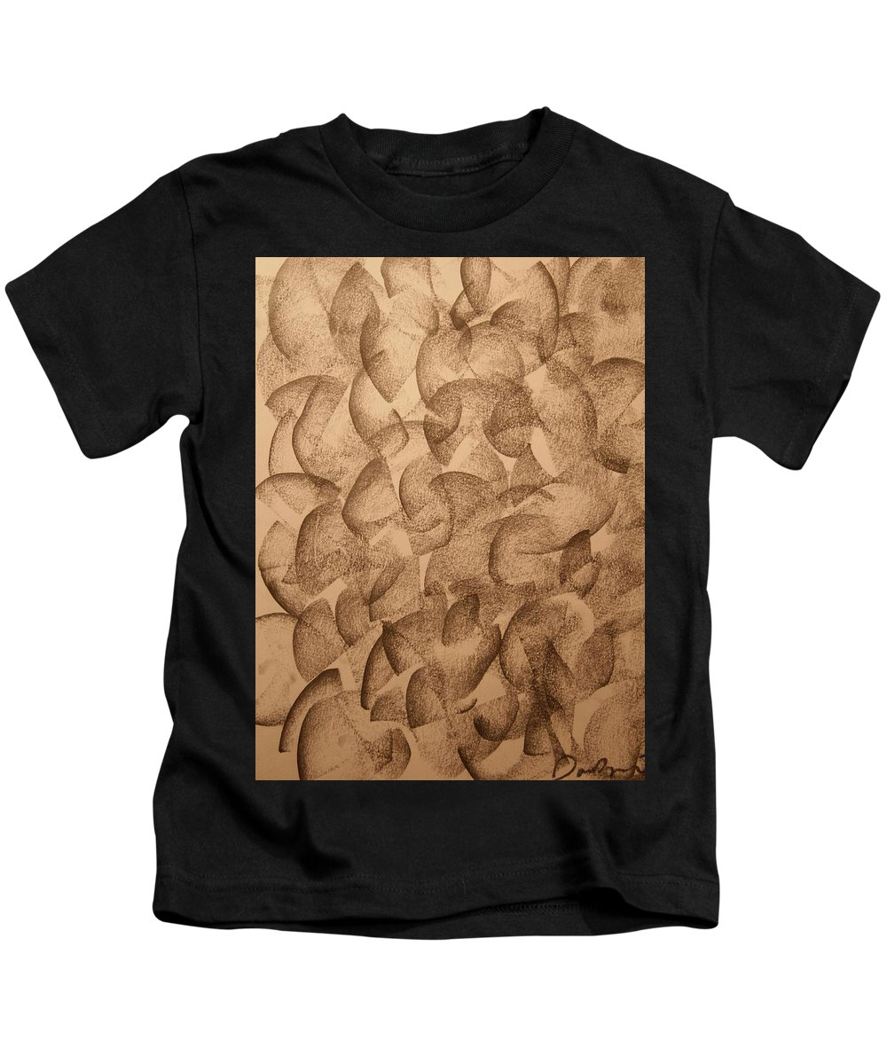 Abstract Kids T-Shirt featuring the drawing Clusters by David Barnicoat