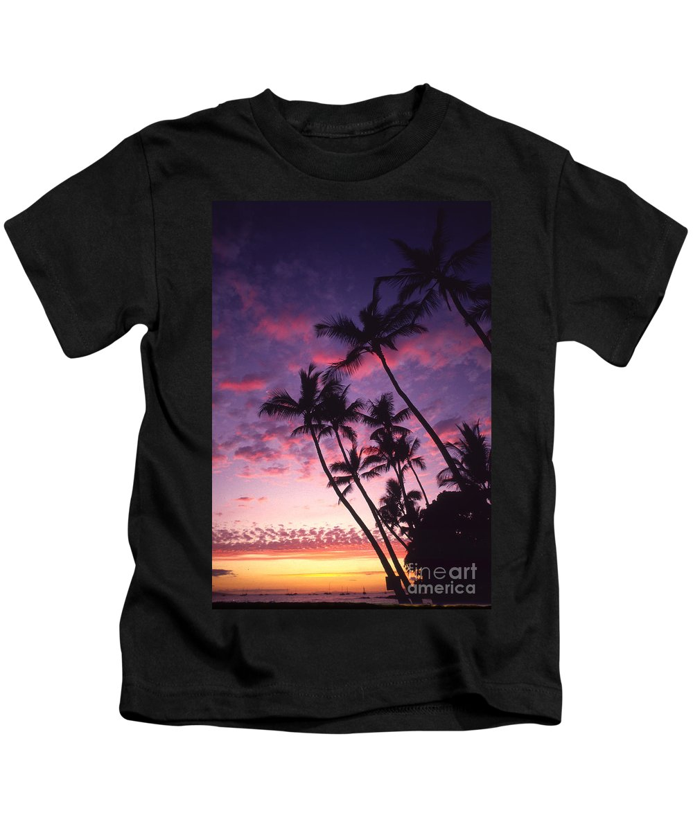 Boat Kids T-Shirt featuring the photograph Coastline Palms by Ron Dahlquist - Printscapes