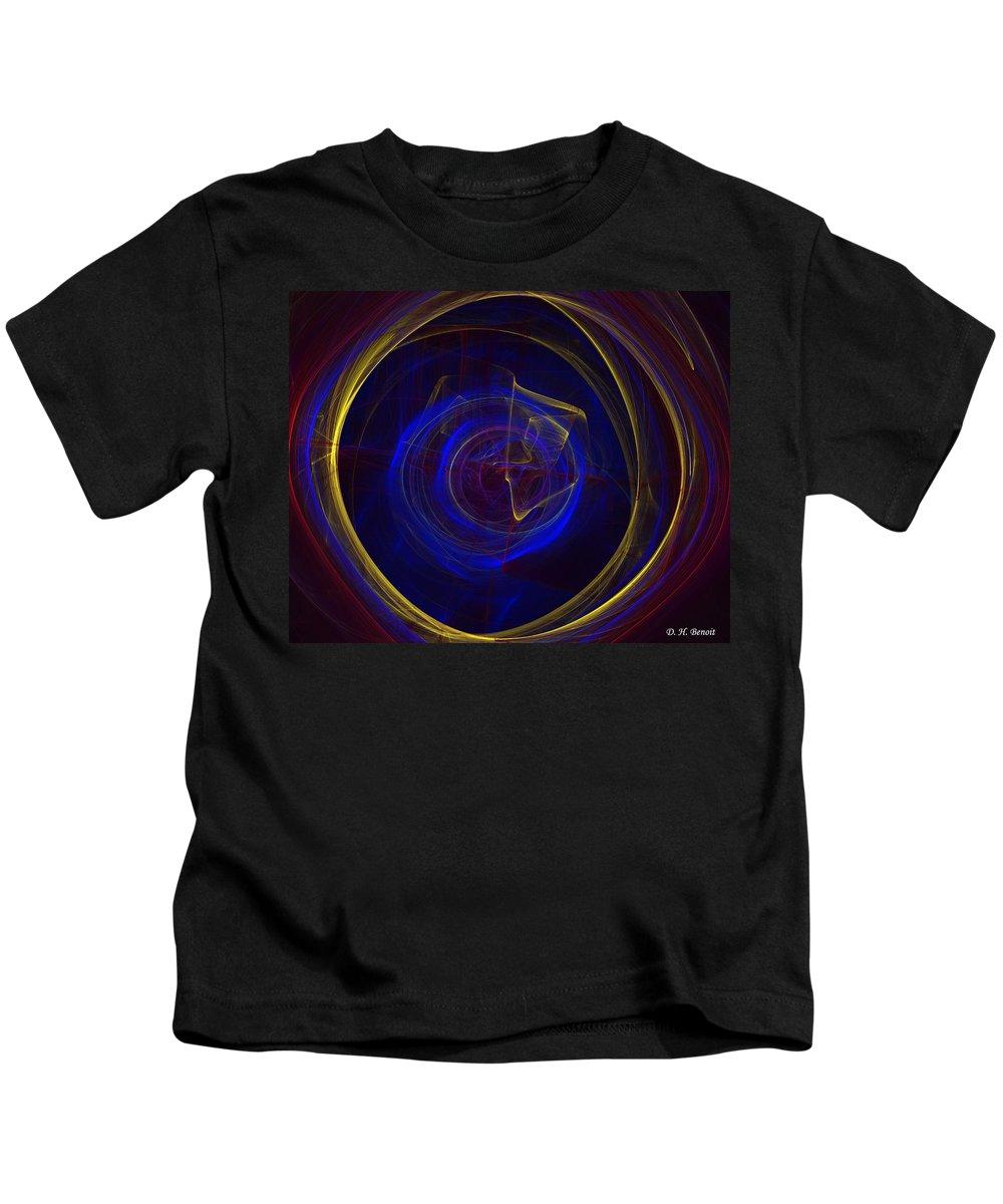 Apophysis Kids T-Shirt featuring the digital art Cobalt Blue by Deborah Benoit