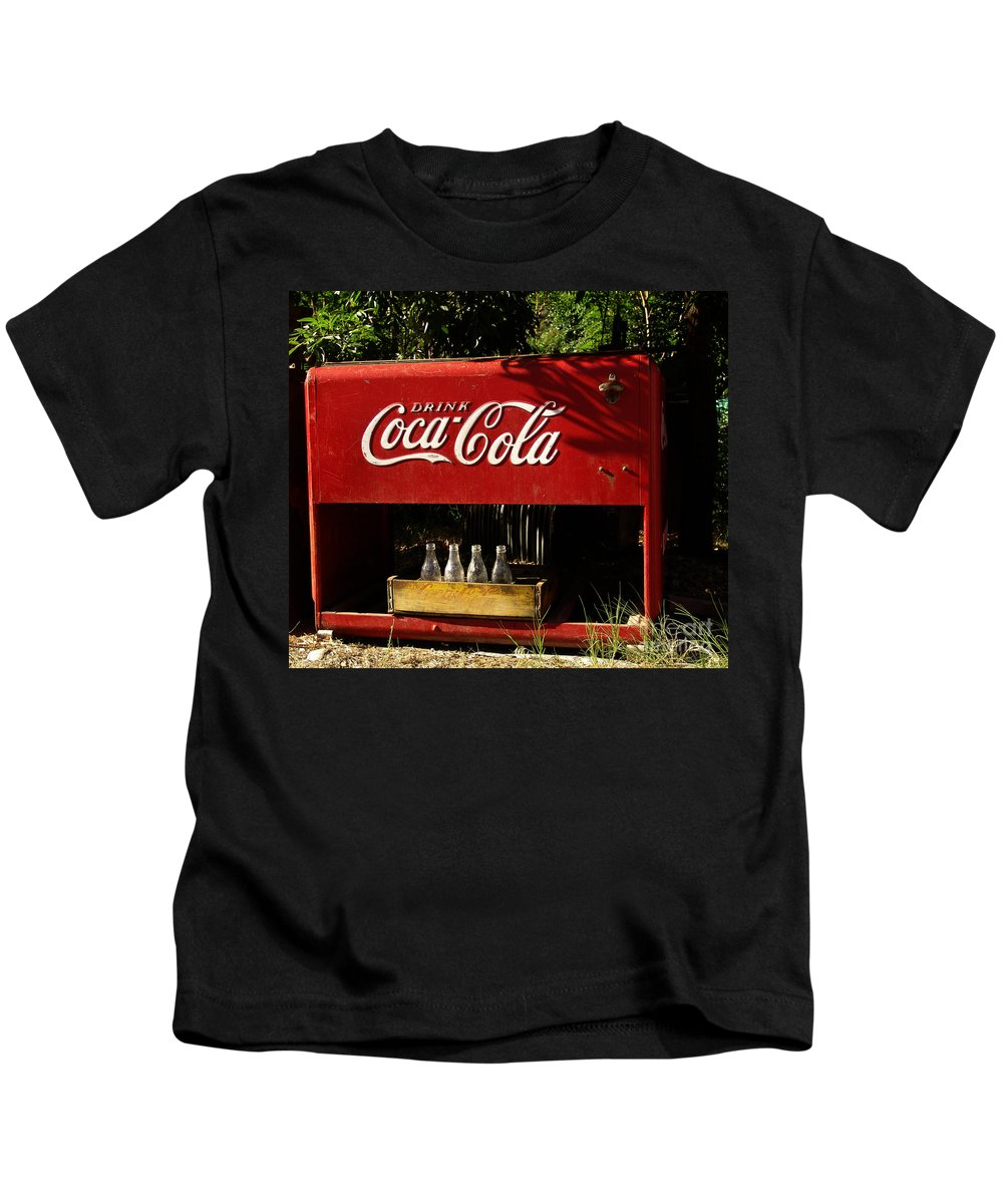 Coke Kids T-Shirt featuring the photograph Coca-cola by Carol Milisen