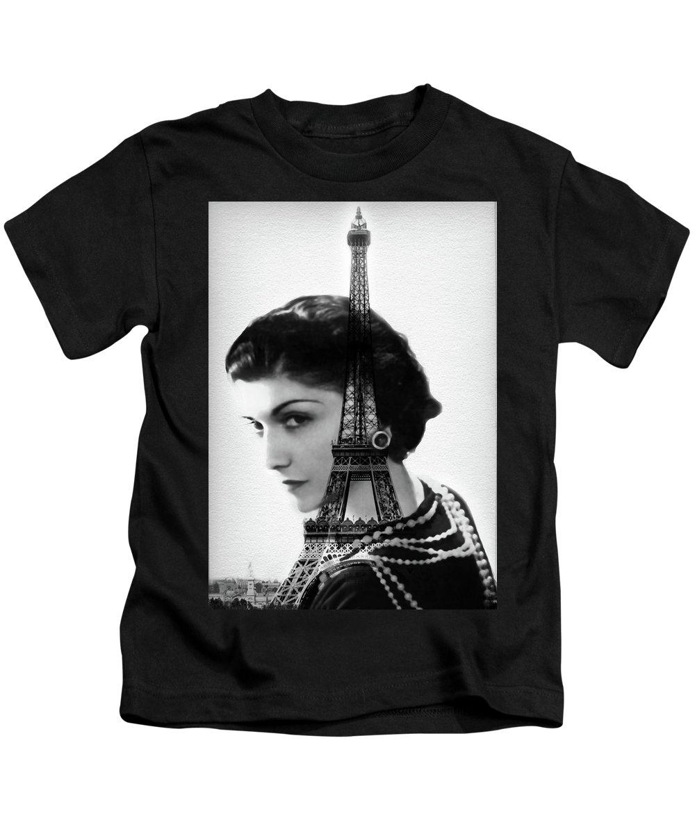 79c867f83 Coco Chanel - Paris - Eiffel Tower - By Diana Van Kids T-Shirt for Sale by  Diana Van