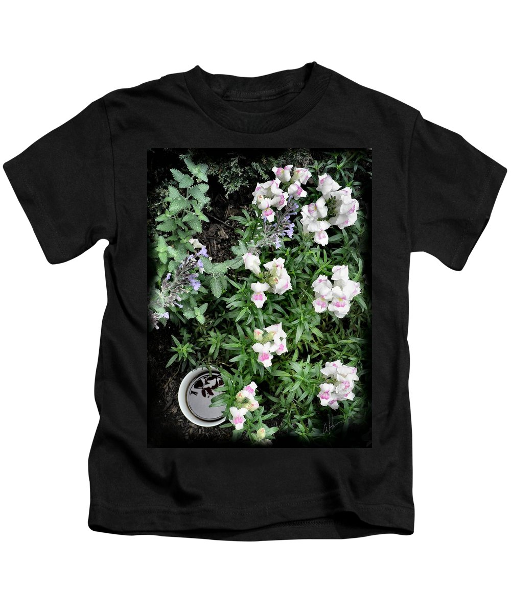 Coffee Kids T-Shirt featuring the photograph Coffee In The Dragon's Lair by T Cook