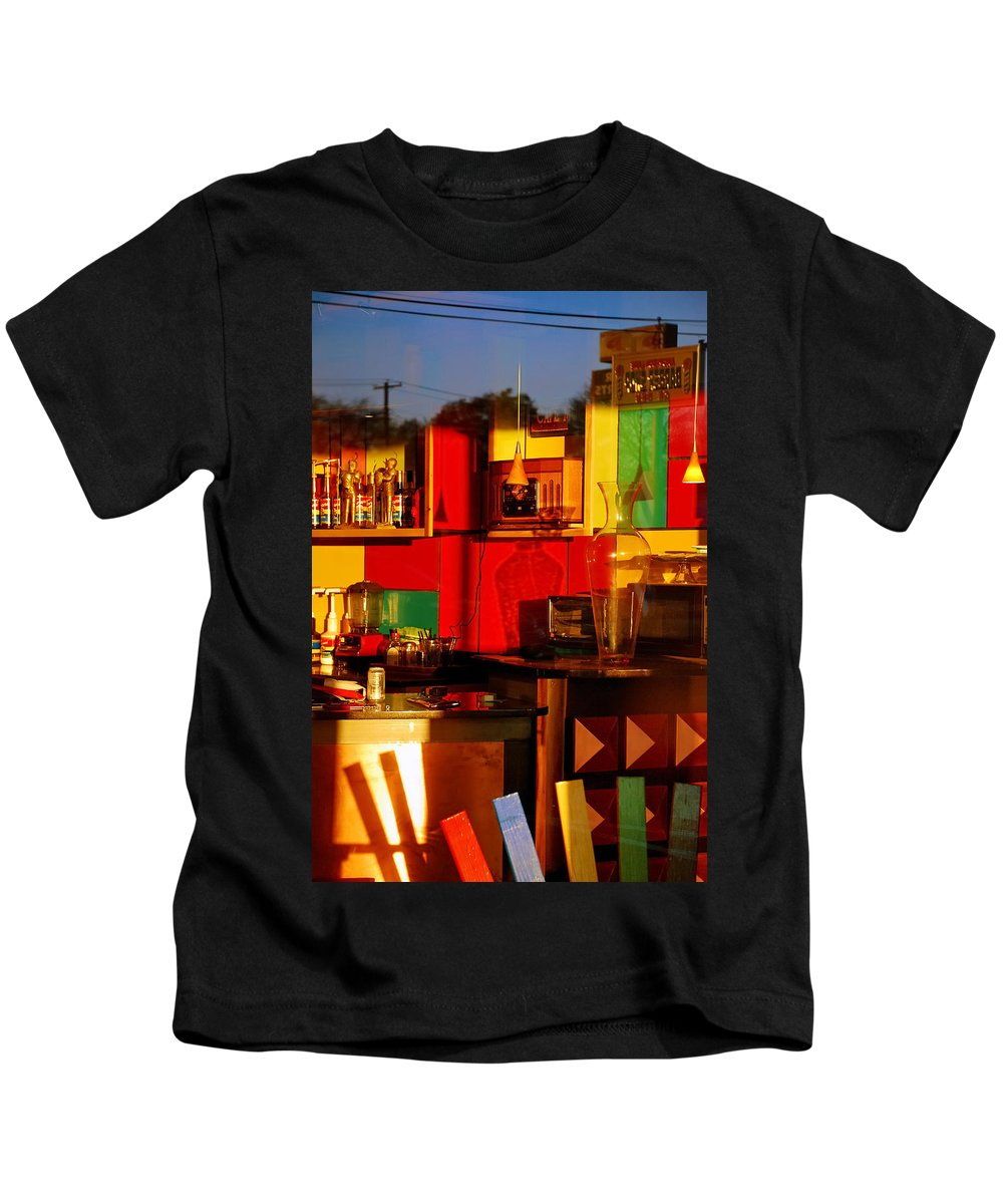 Skip Hunt Kids T-Shirt featuring the photograph Coffee Shop by Skip Hunt