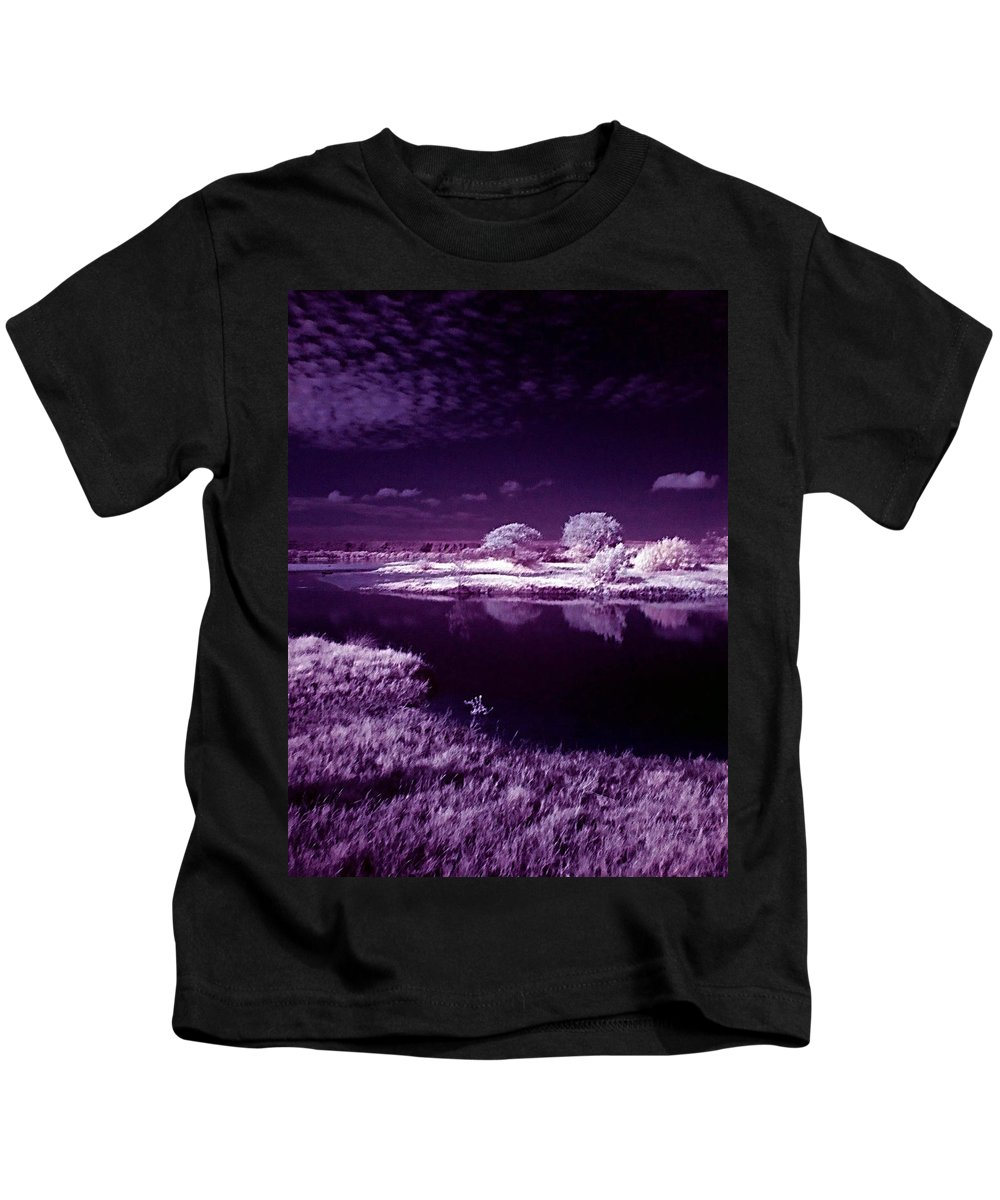 Infrared Kids T-Shirt featuring the photograph Cold Landscape by Galeria Trompiz