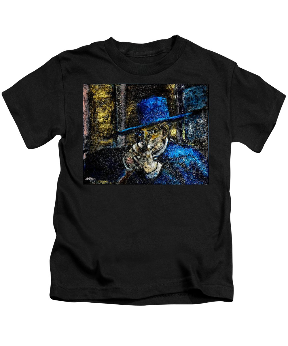Colonel Mortimer's Shot Kids T-Shirt featuring the painting Colonel Mortimer's Shot by Seth Weaver