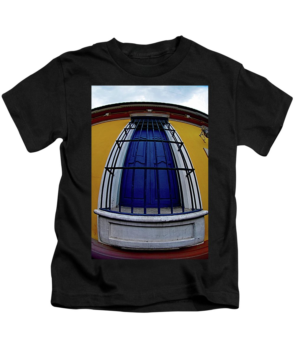 Window Kids T-Shirt featuring the photograph Colonial Window by Galeria Trompiz