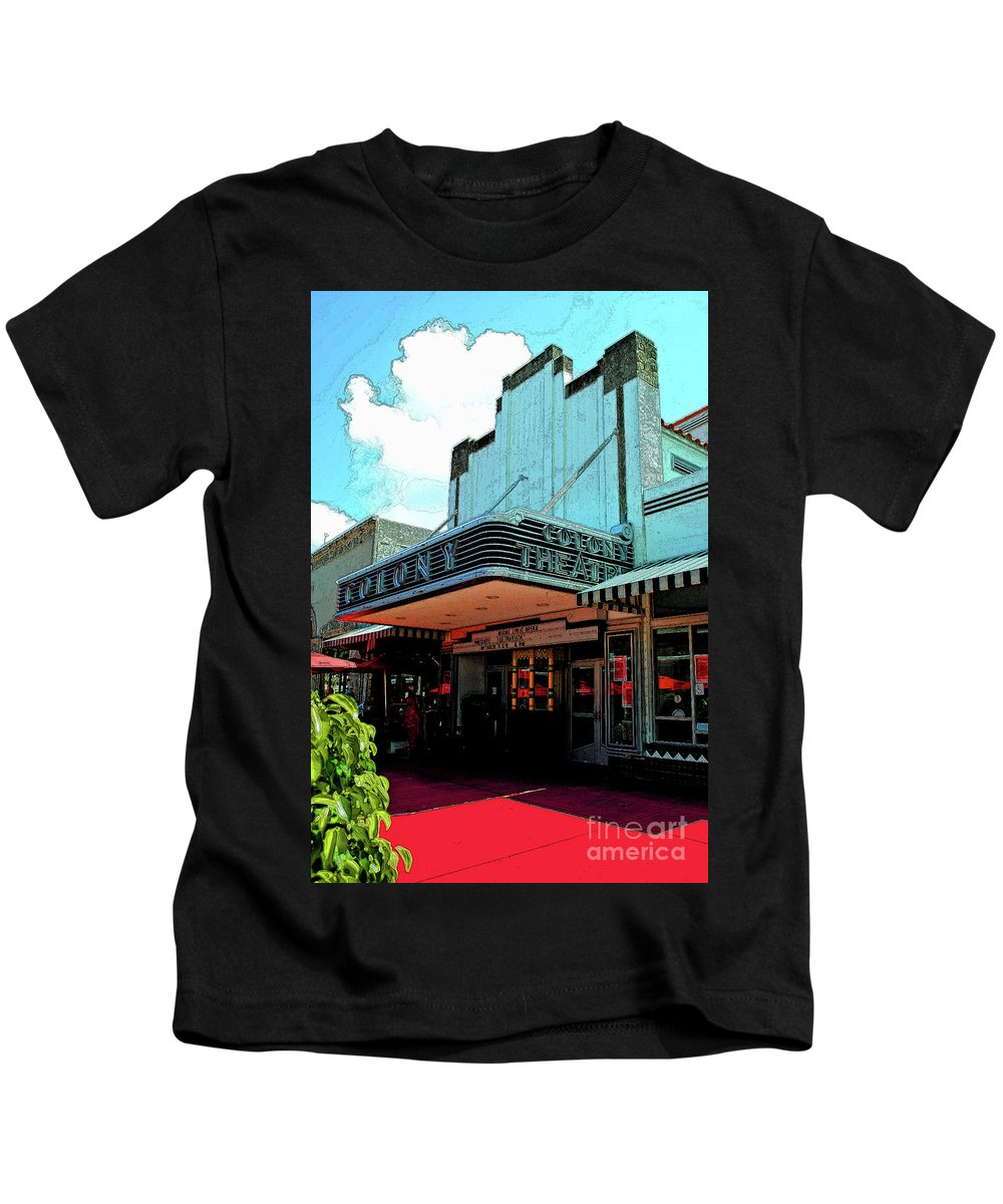 Hotel Kids T-Shirt featuring the photograph Colony Theatre by Jost Houk