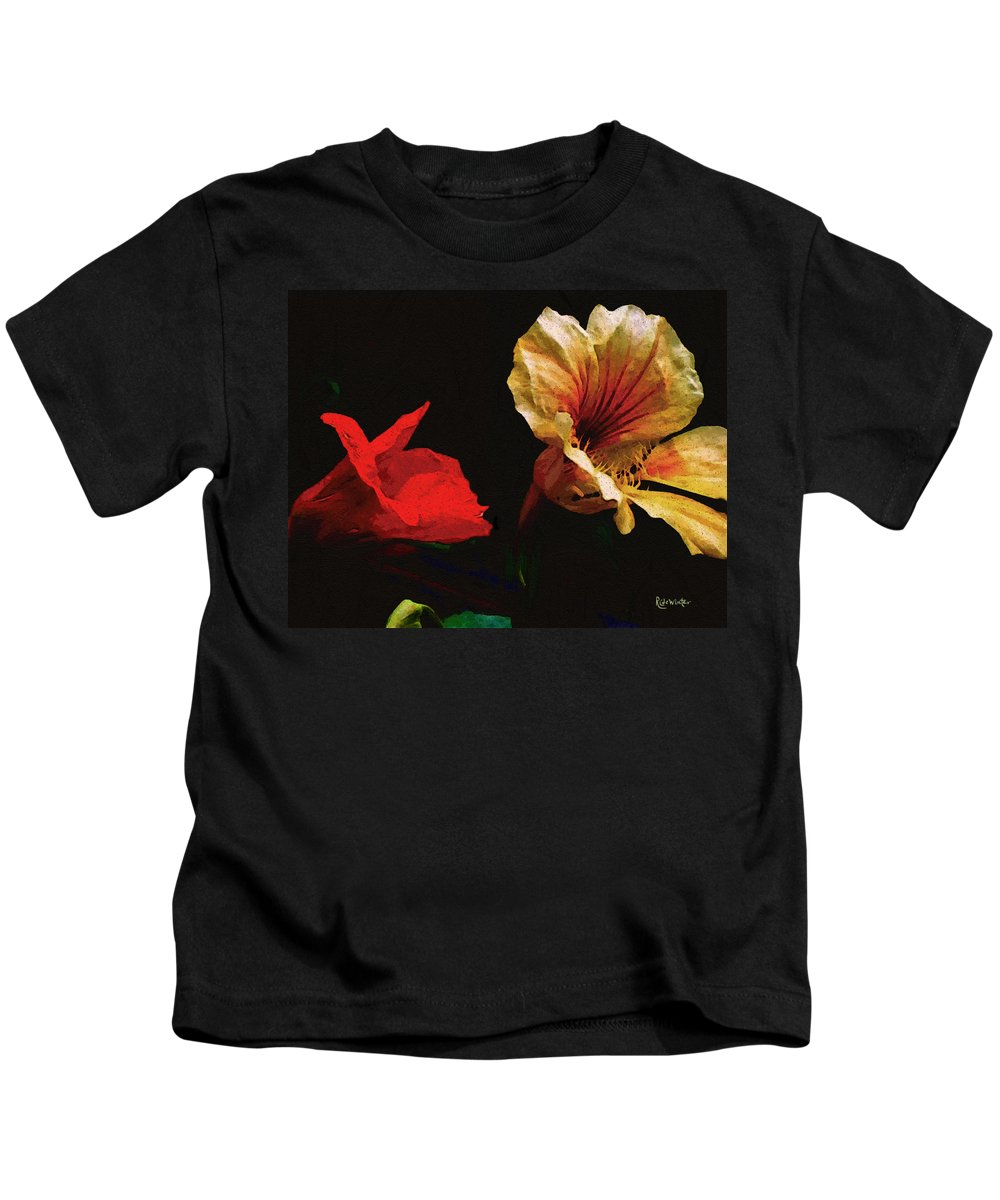 Flowers Kids T-Shirt featuring the painting Color And Light Suspended by RC deWinter