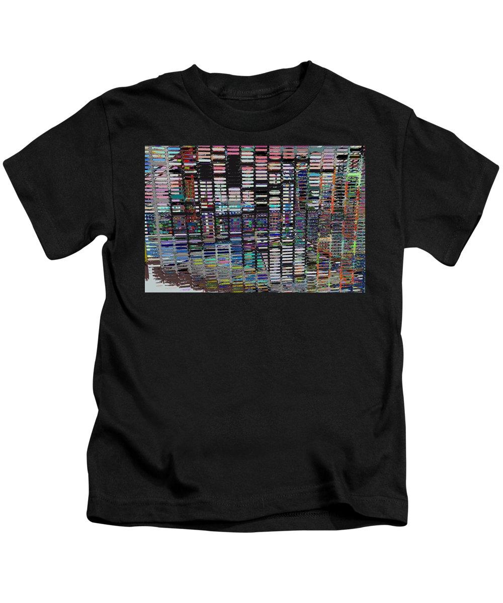 Color Grid - Gold Line Kids T-Shirt featuring the photograph Color Grid - Gold Line by Kenneth James
