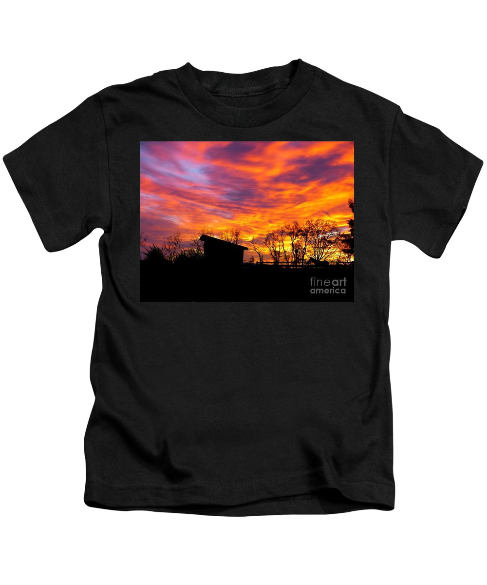 Color Kids T-Shirt featuring the photograph Color In The Sky by Donald C Morgan