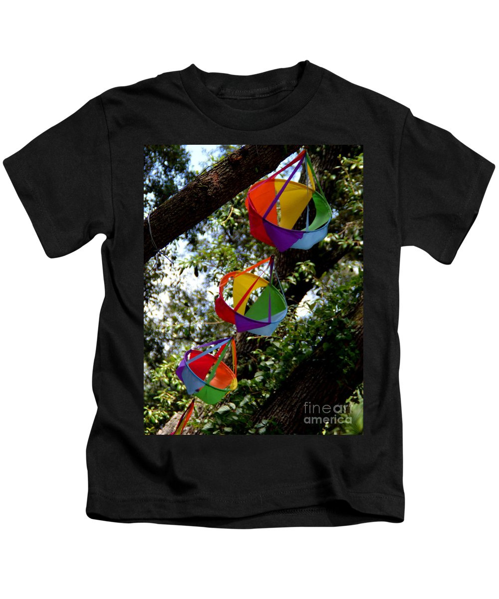 Color Kids T-Shirt featuring the photograph Color In The Wind by Jan Prewett