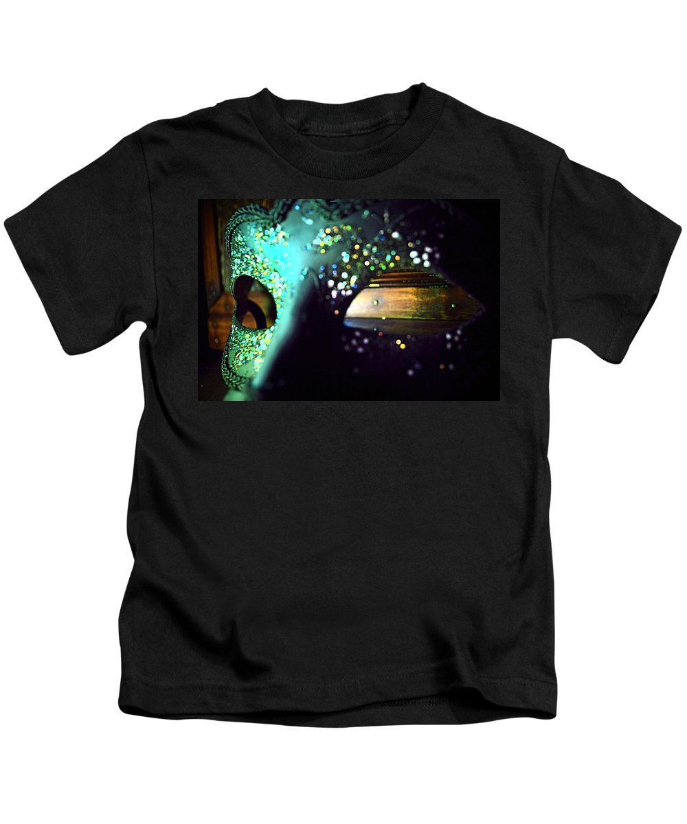 Masquerade Kids T-Shirt featuring the photograph Color Masquerade by Stephanie Haertling