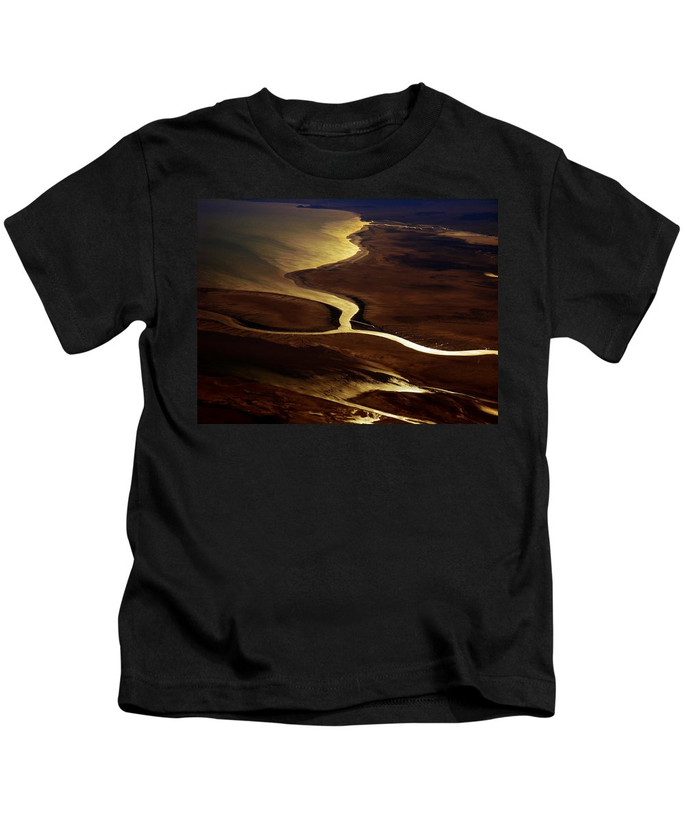 River Kids T-Shirt featuring the photograph Colorado River Delta by Strato ThreeSIXTYFive