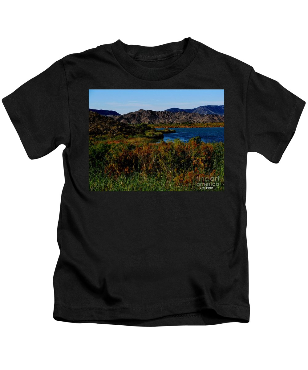 Patzer Kids T-Shirt featuring the photograph Colorado River by Greg Patzer