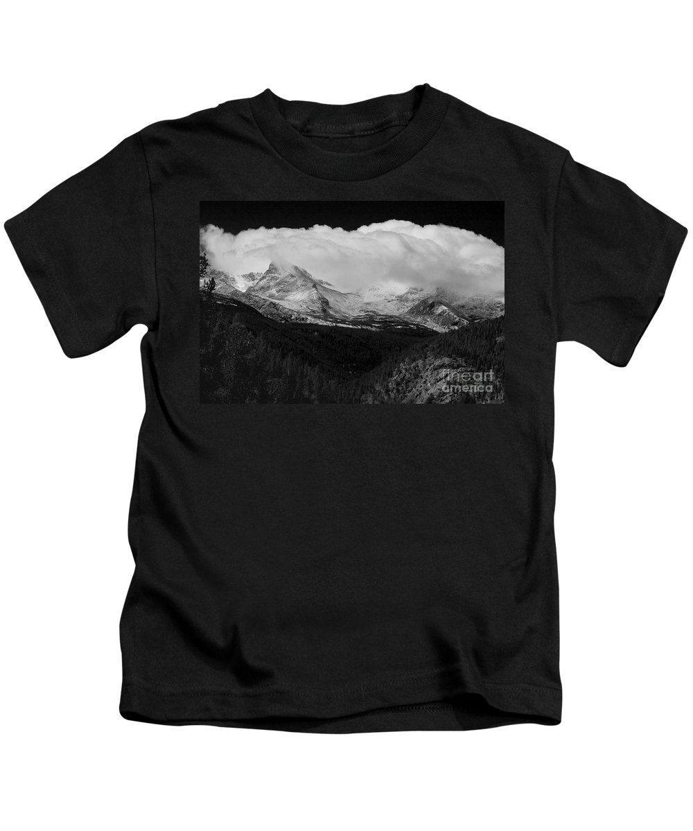 Colorado.b&w Kids T-Shirt featuring the photograph Colorado Rocky Mountains Continental Divide by James BO Insogna