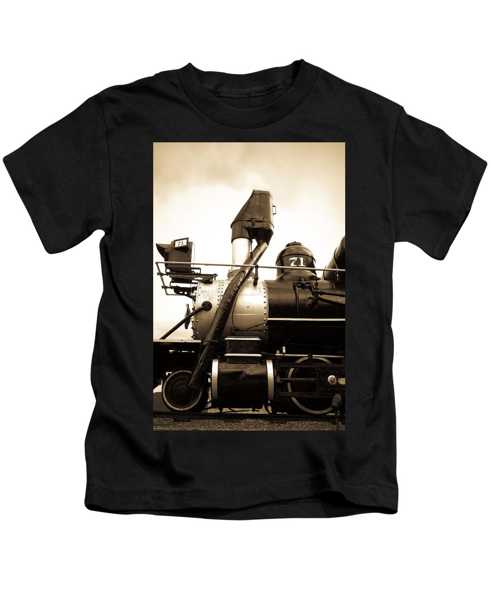 Central City Kids T-Shirt featuring the photograph Colorado Southern Railroad 3 by Marilyn Hunt
