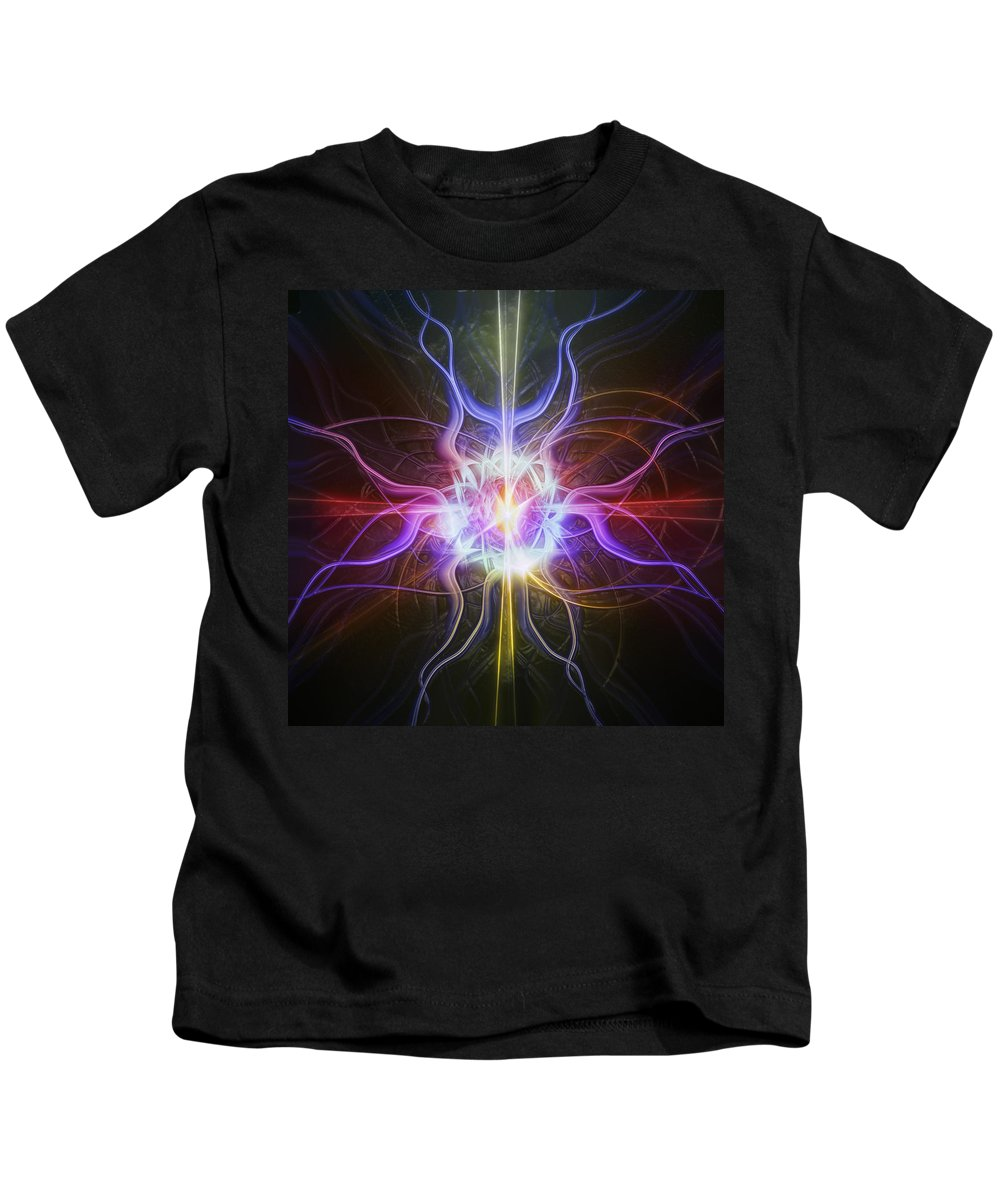 Digital Kids T-Shirt featuring the digital art Colorburst2 by Andy Young