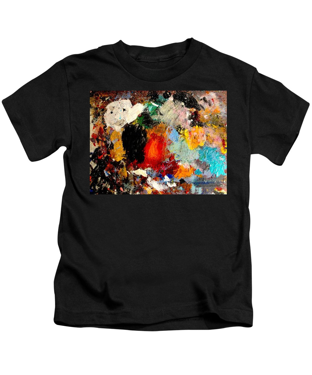 Abstract Kids T-Shirt featuring the painting Colorful Expressions by Natalie Holland
