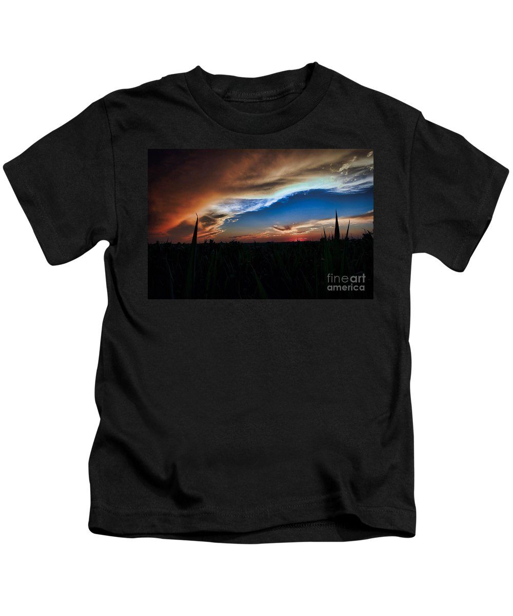 Summer Kids T-Shirt featuring the photograph Kansas - Land Of Beautiful Sunsets by Marty Kugler