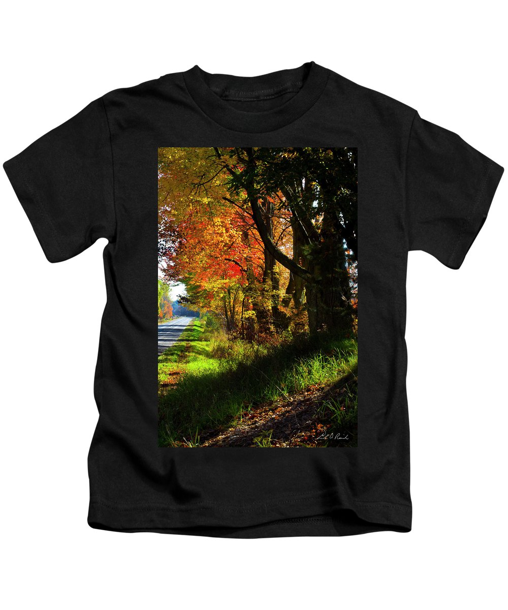 Photography Kids T-Shirt featuring the photograph Colorful Maples by Frederic A Reinecke