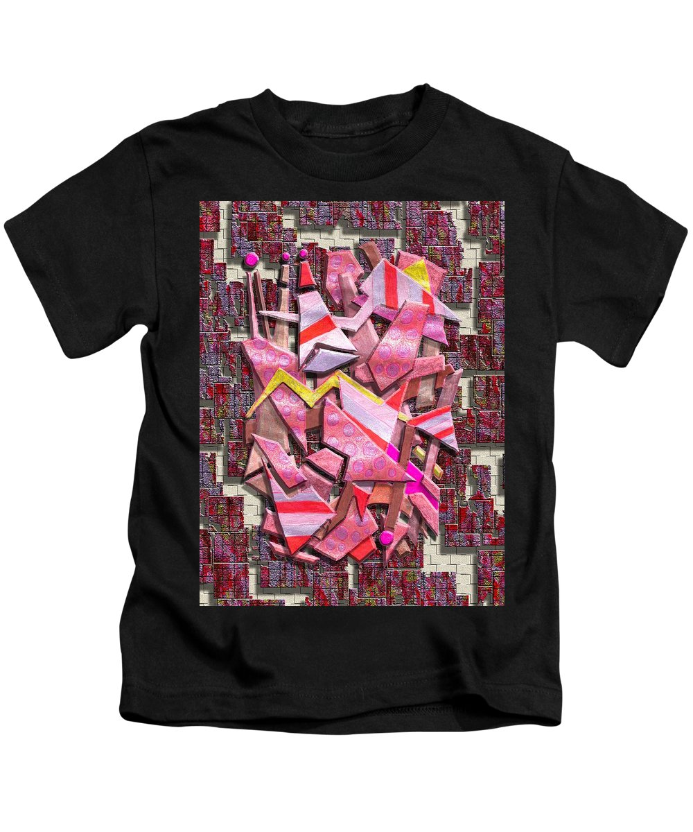 Abstract Kids T-Shirt featuring the digital art Colorful Scrap Metal by Mark Sellers