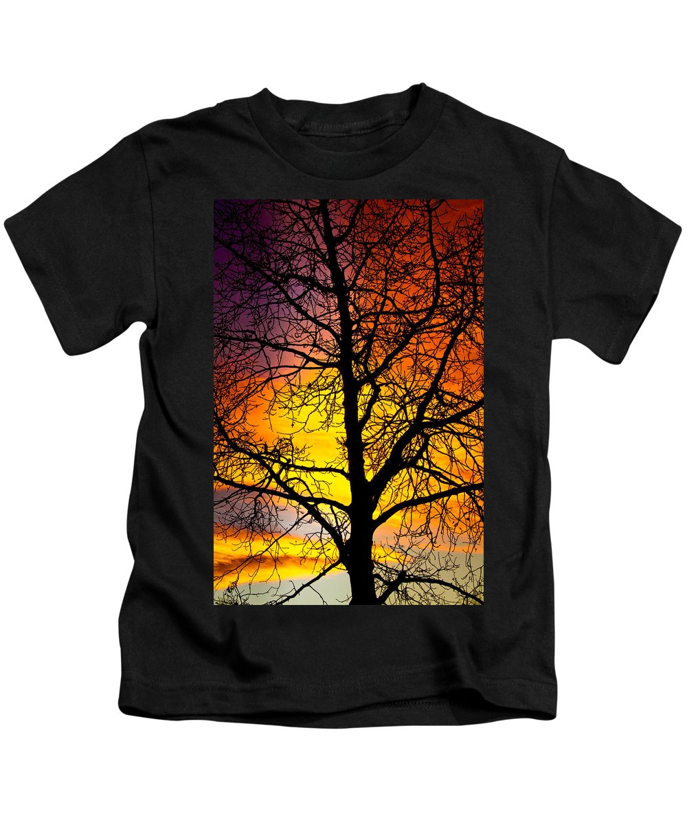 Silhouette Kids T-Shirt featuring the photograph Colorful Silhouette by James BO Insogna